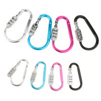 Aluminum Lock Combination Carabiner Keychain For Outdoor Camping Hiking,Luggage