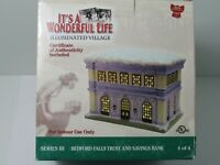 Its a Wonderful Life Village Bedford Falls Trust & Savings Bank Enesco NEW