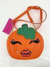 Betsey Johnson Halloween Pumpkin Kitsch Crossbody Shoulder Bag Orange
