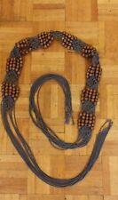 Ladies ex Bay Macrame Bead Tie Belt One size up to UK sz 16 Brown New