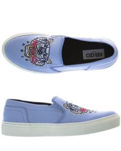 Scarpe Sneaker Kenzo Shoes K SKATE Donna Celeste F862SN100F70 66 Tg. 37