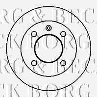 BRAKE DISC SOLID PAIR for FORD FIESTA MK 1 & 2 from 1977 to 1989 BORG & BECK