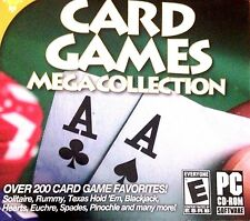 Card Games Mega Collection PC Games Window 10 8 7 XP Computer crazy eights spade