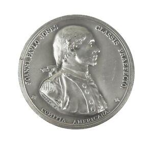 Vintage Joanni Pavlo Jones MDCCLXXVIIII White Metal Medal