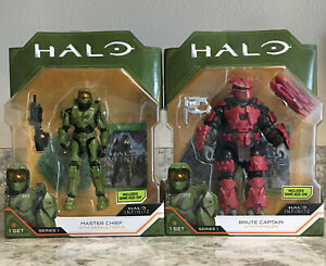 Lot 2 HALO Infinite Action Figures 3.75 Master Chief Brute Captain Bundle NEW