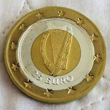 IRELAND HARP UNIFACE TRI METTALIC PROOF PATTERN 25 EURO DIE TRIAL