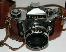 Vintage Exakta VX1000 + aus Jena T (Tessar) 50mm 1:2.8 + Borsa Originale-Ottima-