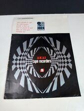 Akai Vtg Tape Recorders Catalog Reel To Reel 1967 Japan X-V 1710W M-9 w/Specs Vr