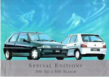 Peugeot 106 Ski & Slalom Limited Edition 1994-95 UK Market Sales Brochure