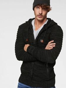 Cipo & Baxx C & B Premium Sz XXL Hooded Knit CARDIGAN TOP Anthracite Casual £52
