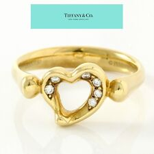 Estate Authentic Tiffany & Co. 18k Yellow Gold Diamond Ring sz 6