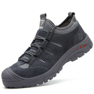 Mens Steel Toe Cap Sports Trainers Safety Shoes Casual Lightweight Work Sneakers