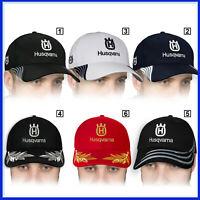Husqvarna Casquette 3D Brodé Logo Baseball Cap Homme Chapeau Accessoires Moto