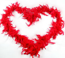 1920s Flapper Feather Boa 20s Party RED Boa Fancy Dress Up Costume Halloween