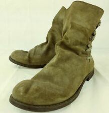 Nine West Vintage America Wos Boots Ankle MADEO US 8.5 M Brown Suede Lace 3981