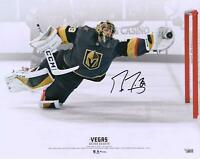 Marc-Andre Fleury VGKs Signed 16 x 20 Diving Save vs. Toronto Maple Leafs Photo