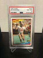 1984 Topps Football #359 Joe Montana Instant Replay PSA NM-MT 8 SF 49ers HOF 🏈