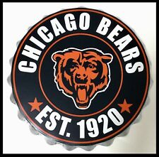 "Chicago Bears NFL LOGO BOTTLE TOP 13.5"" da appendere Wall Art Decoration"