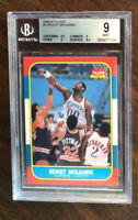 1986 FLEER BASKETBALL #8 BENOIT BENJAMIN BGS 9 WITH GEM MINT 9.5 CENTERING ~~