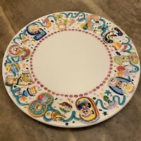 "Radko Birthday Parade Dessert Plate 7.5"" In Diameter Rare Hard To Find"