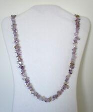 "Ametrine Quartz Natural Chip Stones Beads 32"" Long Strand Necklace.  NWT  WATR"