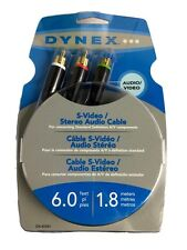 Dynex S-Video Audio L/R Cable RCA 6' Cord 6Ft Gold Plated Cable/TV/DVD