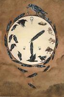 4X6 HALLOWEEN POSTCARD PRINT LE 1/200 RYTA RAVEN CROW FOLK VINTAGE STYLE ART