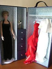 """Franklin Mint """"Diana"""" mit Gardrobenkoffer und Kleidung"""