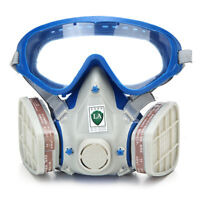 Full Face Gas Mask&Double Filter Breathing Chemical Gas Protection Respirator