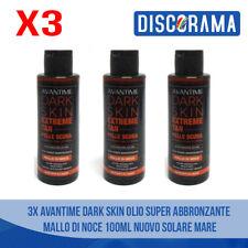 3PZ AVANTIME DARK SKIN OLIO SUPER ABBRONZANTE MALLO DI NOCE 100ML SOLARE MARE