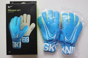 NIKE GK PREMIER SGT ACC MEN FOOTBALL GOALKEEPER GLOVES BLUE GS0387-430 / 8 9 10