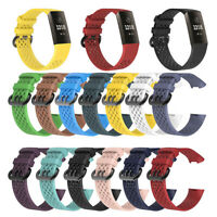 For Fitbit Charge 3 / SE Watch Band Replacement TPE 3D Breathable Wrist Strap