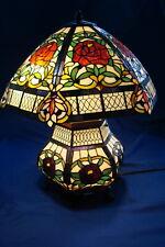 Thomas Pacconi Rose Pattern Tiffany Style Tabletop Lamp