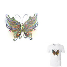 Butterfly Patches Heat Print On T-shirt Jeans Iron On Patches For Clothes FD