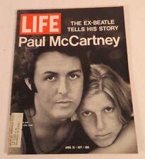 LIFE MAGAZINE APRIL 16 1971 PAUL MCCARTNEY LINDA MCCARTNEY BEATLES COVER NICE!!