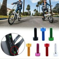 2x Bicycle Water Bottle Cage Bolts Bike Holder Screws Hex-headed M5*15mm Alloy