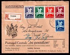 Netherlands 1947 Commercial Registered cover to Basel (Child Care set) WS12021