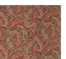 NEW POTTERY BARN CARRIE PAISLEY KING DUVET COVER RED BROWN TAN + 1 KING SHAM