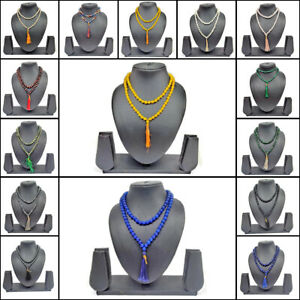 Natural Crystal Gemstone Mala Necklace Prayer Healing Chakra 108 Beads