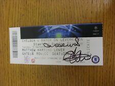 13/09/2011 handsignierte Ticket: Chelsea V Bayer Leverkusen [Champions League] - H