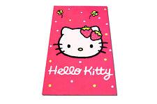 Hochwertiger Kinder Teppich Hello Kitty Erdbeere  Polyacryl  rot creme 50x80 cm