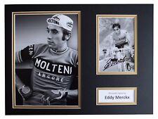 Eddy Merckx Signed autograph 16x12 photo display Cycling Sport AFTAL COA