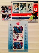 * WINTER OLYMPICS SKATING SKIING SPORT MINI SHEETS THEMATIC STAMPS 04210618 *