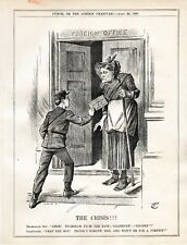 1897 Punch Cartoon Foreign Office on Easter Holidays Crisis Lord Salisbury