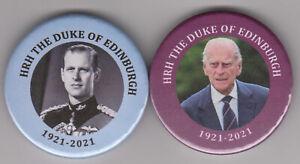 Prince Philip collectable badge pair - 30% TO DUKE OF EDINBURGH'S AWARD CHARITY