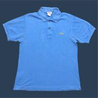 Mens Lacoste Polo Shirt Small Blue Short Sleeve