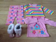 Brand New Baby Girls Size 6-9 Months Cat Tops x 2, Cat Leggings & Pink Boots