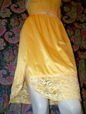 "Vintage Vanity Fair Sunshine Nylon Tricot Lacy Slit Mini Half Slip S 22"""