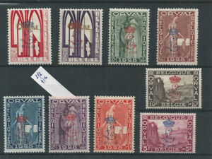 Postage Stamps Belgium 1929 - 272/ABCDEFGHK  Orval Abbey  MH*