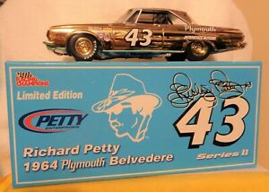 RICHARD PETTY 1964 GOLD CHROME 1/24 PLYMOUTH BELVEDERE 1 OF 72